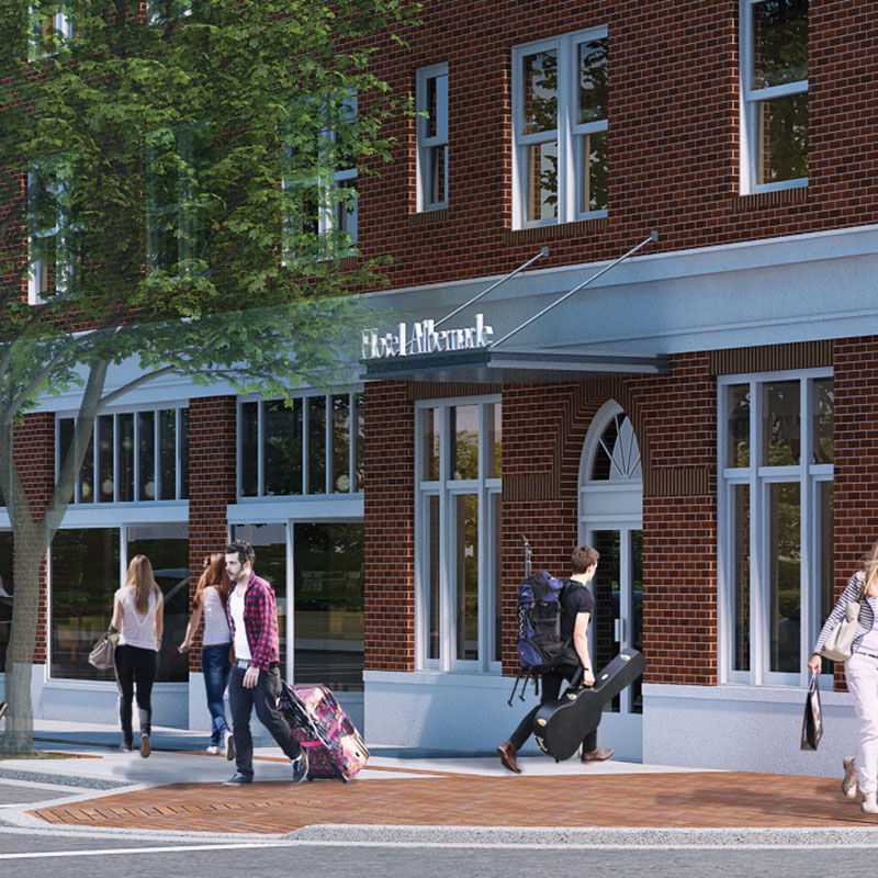 Rendering of The Residences at the Albemarle Hotel