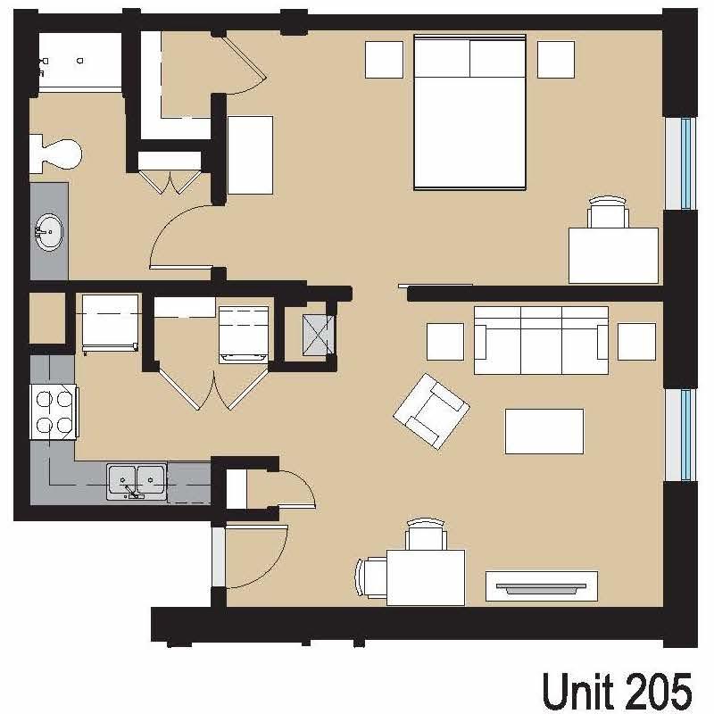 Unit 205 Floor Plan